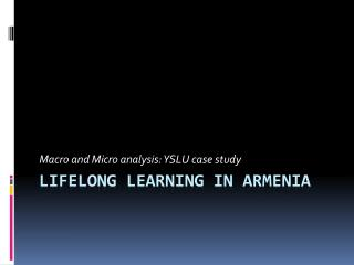 Lifelong learning in armenia