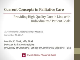 Providing High-Quality Care in Line with Individualized Patient Goals