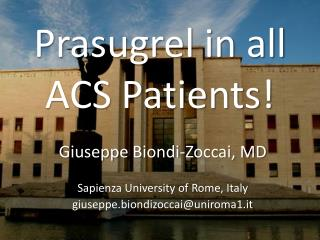 Prasugrel in all ACS Patients!