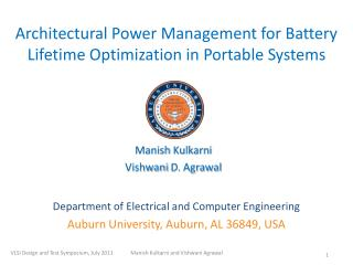 Architectural Power Management for Battery Lifetime Optimization in Portable Systems