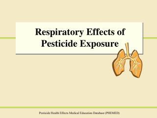 Respiratory Effects of Pesticide Exposure
