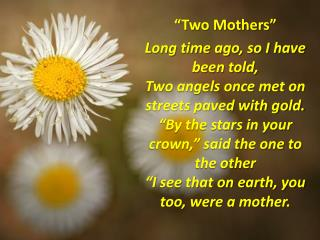 """""""Two Mothers"""""""