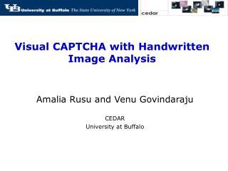 Visual CAPTCHA with Handwritten Image Analysis