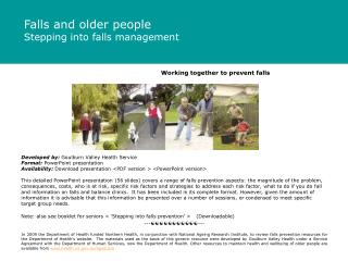 Working together to prevent falls