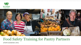 Food Safety Training for Pantry Partners