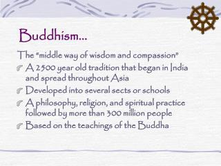 Buddhism…