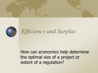 Efficiency and Surplus