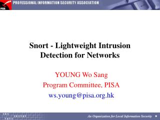 Snort - Lightweight Intrusion Detection for Networks