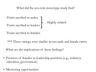 What did the sex-role stereotype study find?