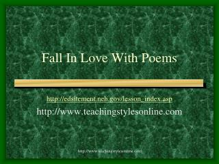 Fall In Love With Poems