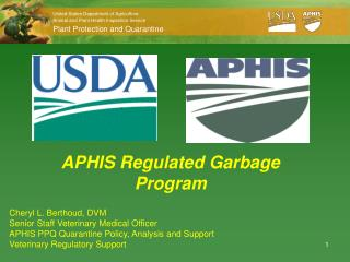 APHIS Regulated Garbage Program