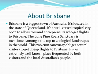 Brisbane flights and travel guide