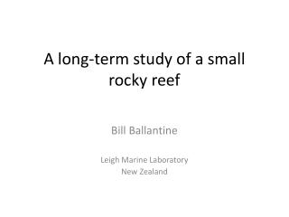 A long-term study of a small rocky reef