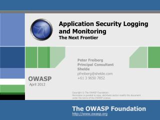 Application Security Logging and Monitoring The Next Frontier