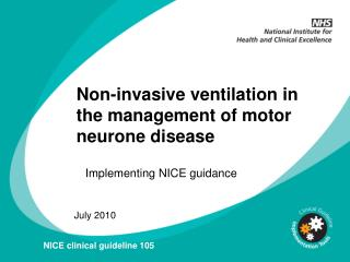 Non-invasive ventilation in the management of motor neurone disease