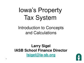 Iowa's Property  Tax System