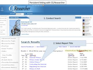 Persistent linking with CQ Researcher