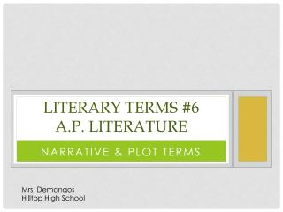 Literary Terms #6 A.P. Literature
