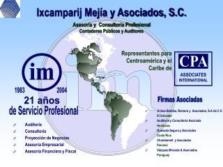 Auditoría Consultoría Proyección de Negocios Asesoría Empresarial Asesoría Financiera y Fiscal