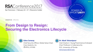 From Design to Resign: Securing the Electronics Lifecycle