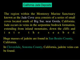 California Jade Deposits