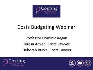 Costs Budgeting Webinar