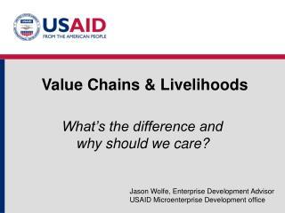 Value Chains & Livelihoods