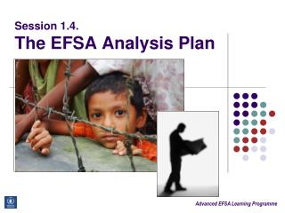 Session 1.4.  The EFSA Analysis Plan