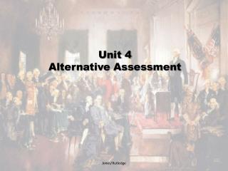 Unit 4 Alternative Assessment