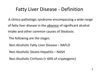Fatty Liver Disease - Definition