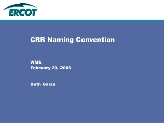 CRR Naming Convention
