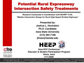 Potential Rural Expressway Intersection Safety Treatments