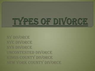 New York county divorce