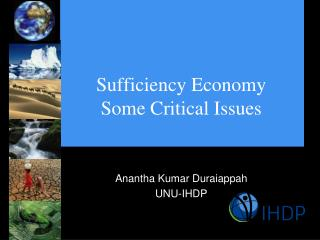 Sufficiency Economy Some Critical Issues