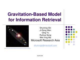 Gravitation-Based Model for Information Retrieval