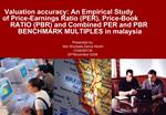 Valuation accuracy: An Empirical Study of Price-Earnings Ratio PER, Price-Book RATIO PBR and Combined PER and PBR BENCHM