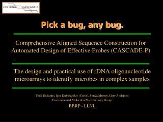 Pick a bug, any bug.