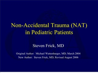 non-accidental trauma nat in pediatric patients