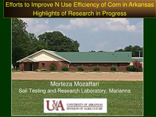 Morteza Mozaffari Soil Testing and Research Laboratory, Marianna