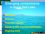 Emerging contaminants in Great Salt Lake