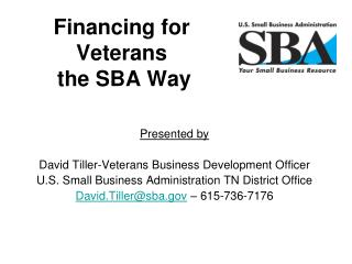 Financing for Veterans  the SBA Way