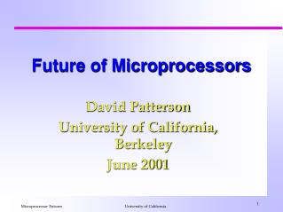 Future of Microprocessors