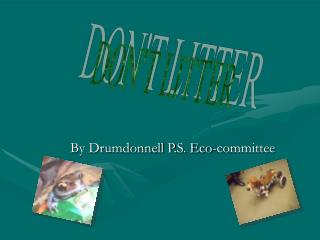 By Drumdonnell P.S. Eco-committee