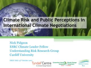 Climate Risk and Public Perceptions in International Climate Negotiations