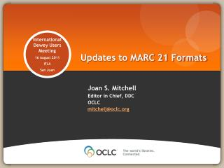 Updates to MARC 21 Formats