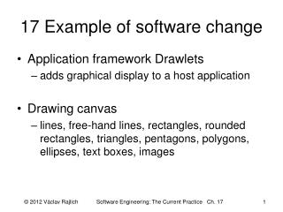 17 Example of software change