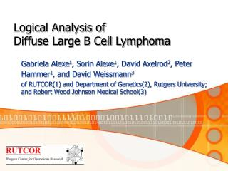 Logical Analysis of  Diffuse Large B Cell Lymphoma