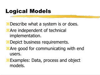 Logical Models