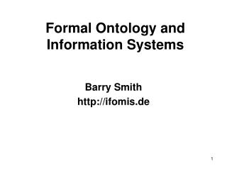 Formal Ontology and Information Systems