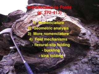 introduction to folds p. 372-413